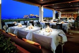 屋上のルーフレストラン,Hotel Grande Bretagne